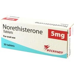 Norethisteron 30 mal 5mg Tabletten Verpackung
