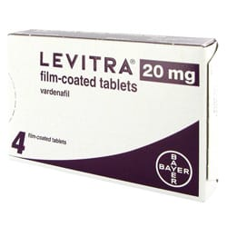 Levitra (Vardenafil) 20mg film coated tablets