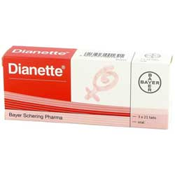 Dianette 3 mal 21 Tabletten Verpackung