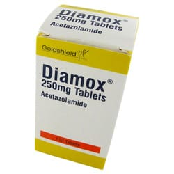 Diamox 30 mal 250mg Tabletten mit Acetazolamid Verpackung