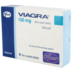 Pack of 4 Viagra 50mg sildenafil film-coated tablets