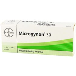 Pack of 63 Microgynon 30 oral tablets