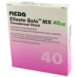 Pack of 8 Elleste Solo MX 40 micrograms estradiol transdermal matrix patches