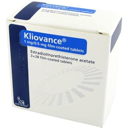 kliovance 3x28 film-coated tablets pack