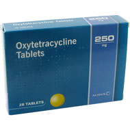 Tetracyclin Oxytetracycline 250 mg 28 tabletter forpakning forside