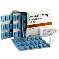 Xenical casules for oral use