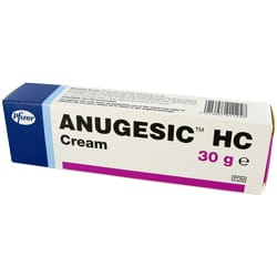 Anugesic HC cream and suppositories pack