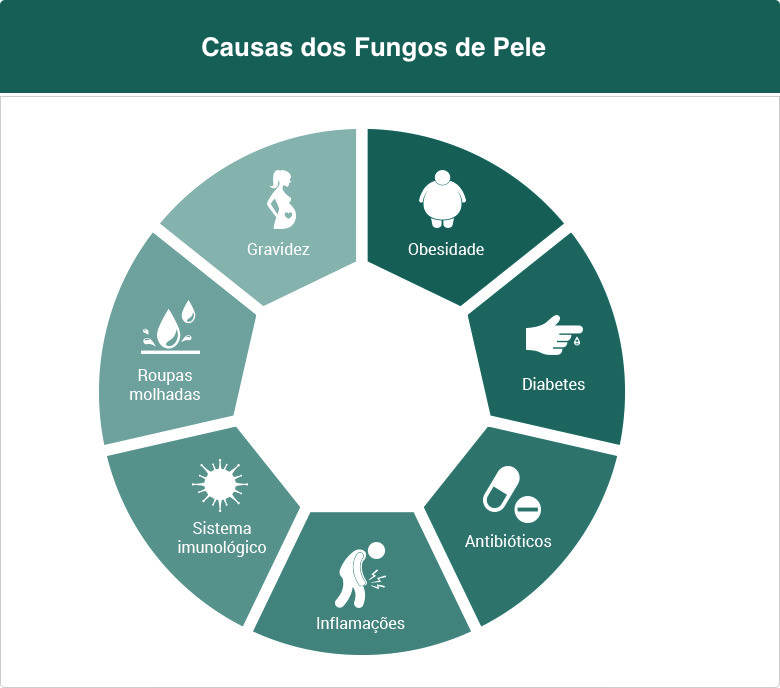 Causas do fungos de pele