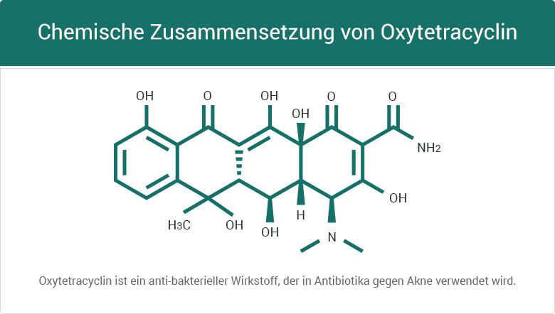 Chemische Zusammensetzung von Oxytetracyclin