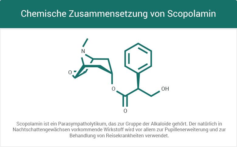 Chemische Zusammensetzung von Scopolamin