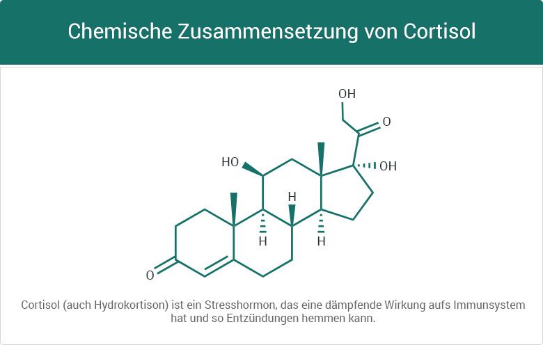 Chemische Zusammensetzung von Cortisol