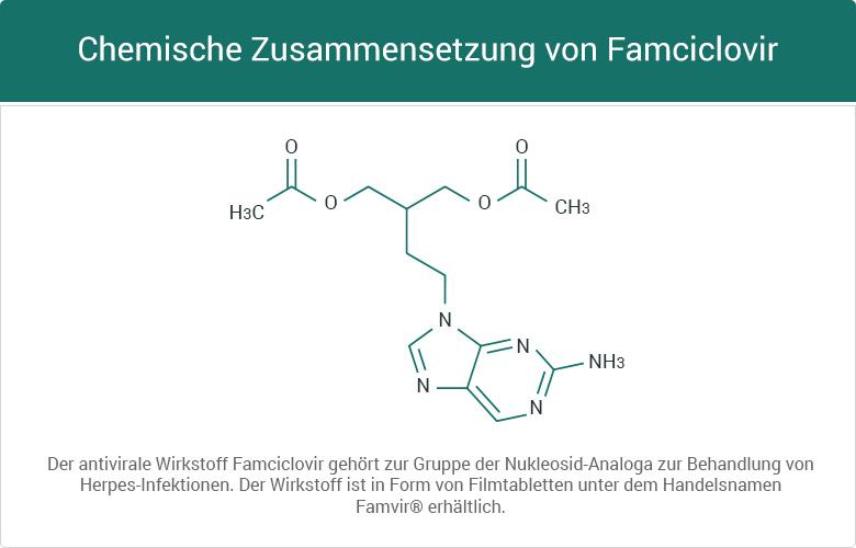 Chemische Zusammensetzung von Famciclovir