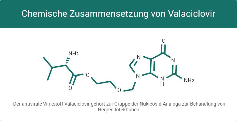 Chemische Zusammensetzung von Valaciclovir