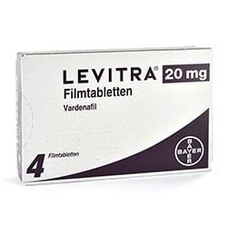 Levitra Packung und Tabletten