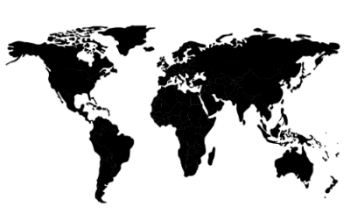 verdenskort i sort og hvid